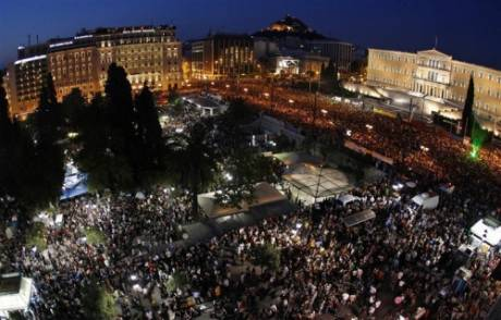 100,000 �indignants� march on Parliament in Athens - unprecedented pro-democracy protests in Greece will be going into their 7th day tomorrow.