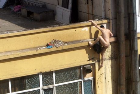 Swiftly dressing the cousin in his robe and shaving, Osama hit the back window....