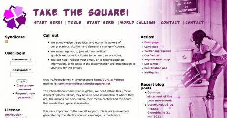Take the square; online toolkit for global revolutionary direct action for REAL democracy