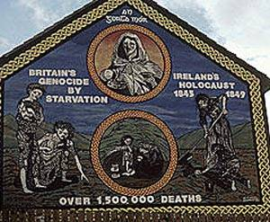 A  Sign in Belfast of the British Holocaust In Ireland
