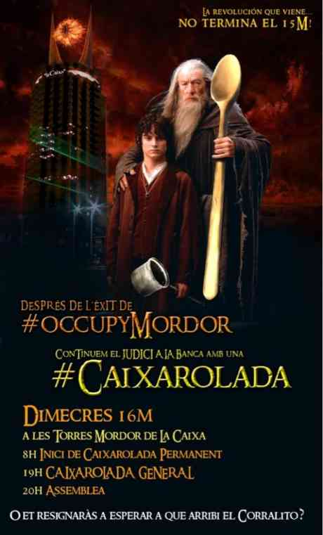 #SpanishRevolution reloads, takes aim and fires� #OccupyMordor