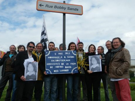 Bobby Sands Remembered in Nantes Brittany