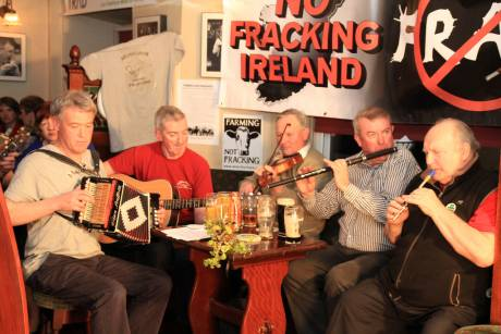 Livetrad.com session and No Fracking Ireland, April, Carrick-on-Shannon