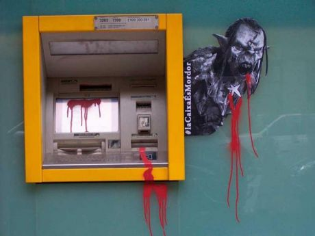#SpanishRevolution - orks at bank machines