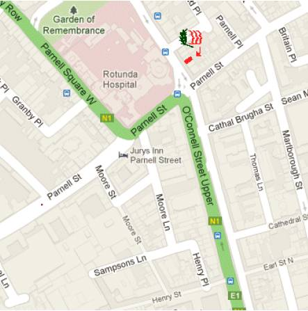 We are near intersection of Parnell &amp; O'Connell Streets