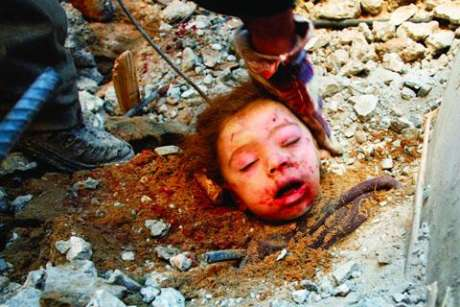 Palestinian Child,Kaukab Al Dayah, slaughtered by Jewish National Socilaism - Perhaps the Jewish Pilot said a prayer?