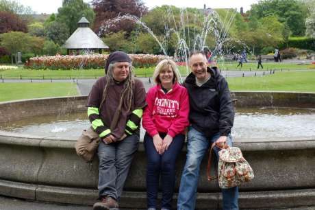 Ciaron, Sharon and Joe at St. Stephen's Green
