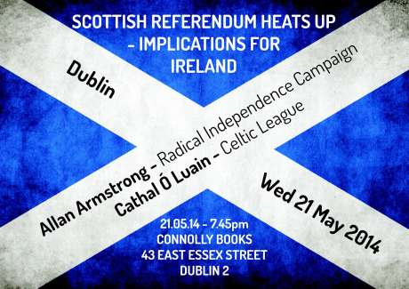 Poster of public talk on Scottish Independence