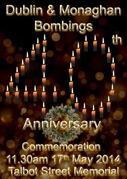 Each candle in the poster represents a victim of these events