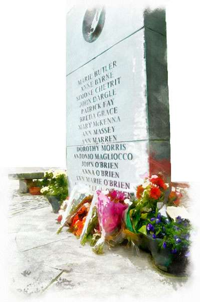 The other side of the Talbot Street Memorial
