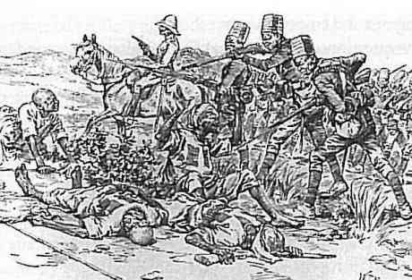 Slaughter of the wounded at Omdurman