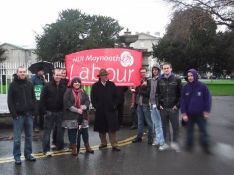 NUIM Labour Youth supporting university staff
