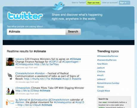 TWITTER climate channel - get fresh CLIMATE news as it emerges...