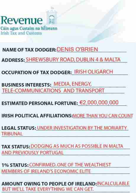 Denis O'Brien Tax Demand