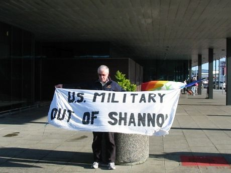 Protest At Shannon Terminator Building