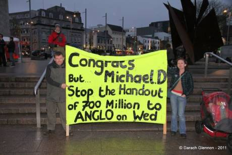 Congrats MIchael D But... Stop the handout of €700 million to ANGLO on wed