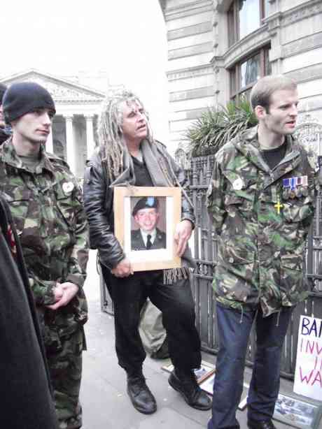 Veterans Matthew Horne and Ben Griffin and former anti-war prisoner Ciaron O'Reilly