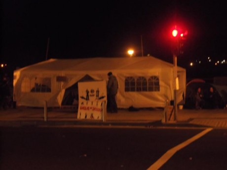 #OccupyWaterford have a fancy gazebo too