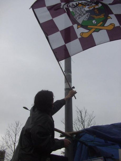 Occupy Galway proudly fly their flag
