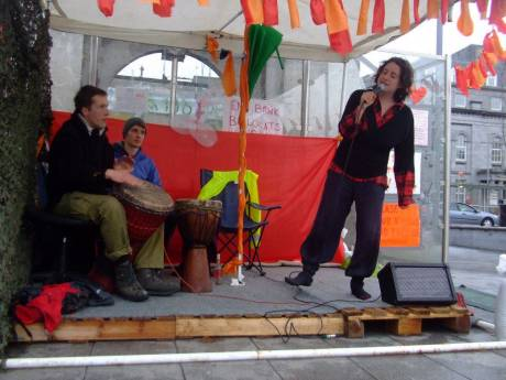 the stage at #occupygalway