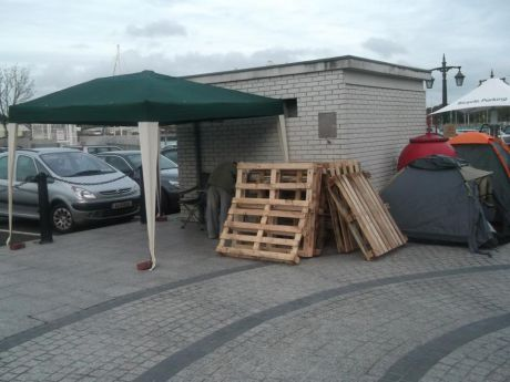 Pallettes n tents, its starts with the first step