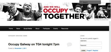 #OccupyGalway: BLOG now up and running