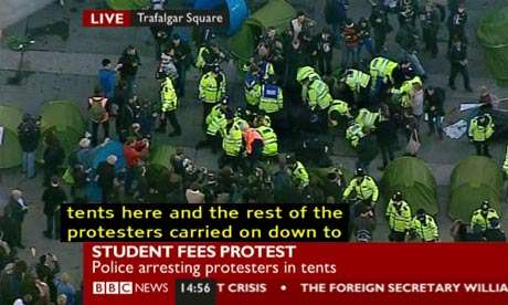 Occupy Trafalgar Square - quickly ended by cops