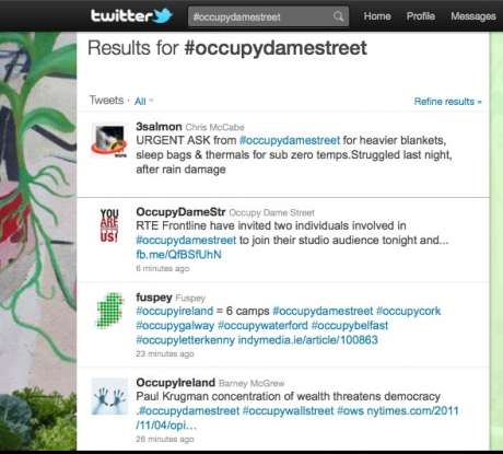 get latest #occupyireland news from the TWEET machine