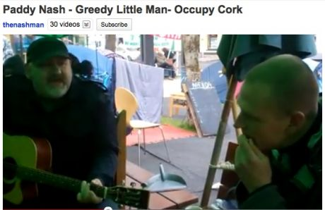 "Paddy Nash - Greedy Little Man- Occupy Cork : ""I'll shit on you, I'll shit on you, I'll shit on you.... and your little dog"""