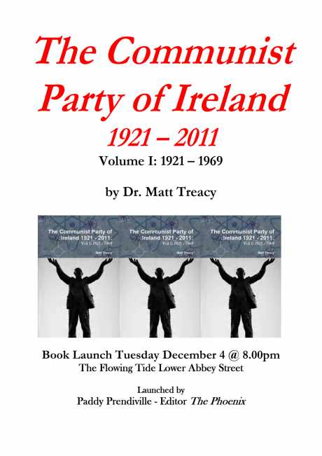 Book Launch by Paddy Prendiville - 4 December 2012 Flowing Tide Abbey Street