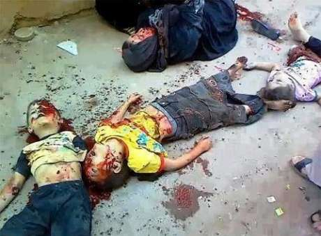Child Members of the al Dalou Family, Gaza, murdered by Israeli bombs