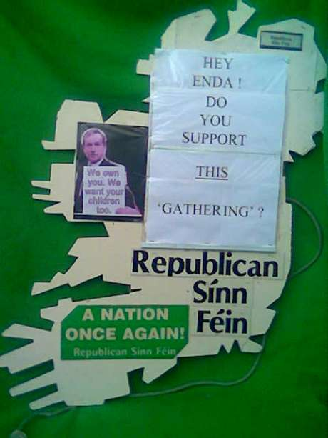 One of the RSF placards for the 24th November 2012 protest in Dublin.