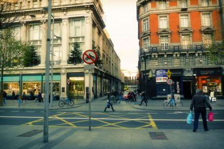 Sackville Place as it looks from O'Connell Street, copyleft