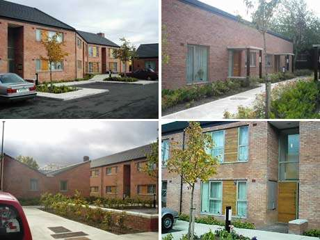 New housing development at Bulfin Court - excellent example of social housing working in a community