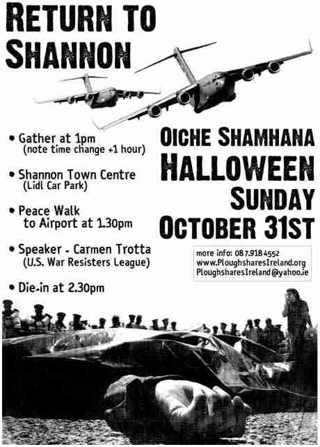 HALLOWEEN RETURN TO SHANNON, OCTOBER 31ST