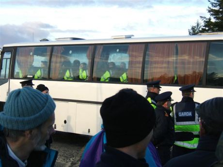 Extra Gardai arrive in buses