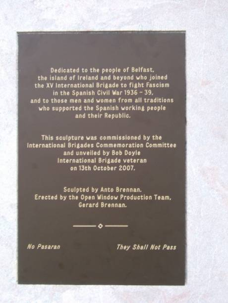 The inscription on the monument