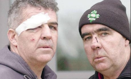 Martin & Pat O'Donnell on the day of the alleged assault