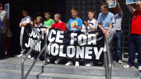 The maloneys stage another protest to highlight johner's case
