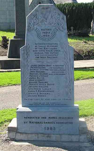 Gravestone in Glasnevin Cemetery Dublin, remembering the Connaught ranger mutineers. When was the last time you saw a Fianna Fail minister at that gravestone
