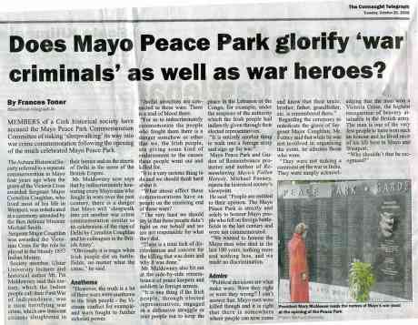 Glorifying War Crime in Mayo