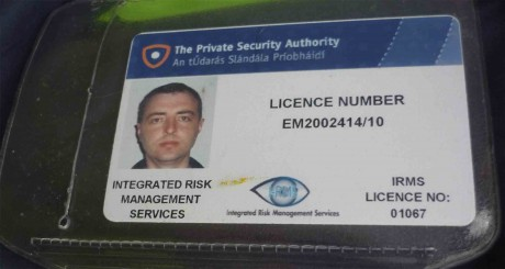 Security ID of the IRMS guard who endangered the climber's safety