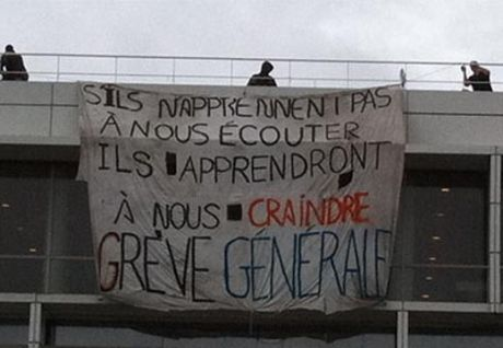 Saint Denis University, a working-class suburb north of Paris, morning of October 19