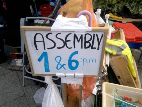 #OccupyGalway: General assemblies at 1 and 6pm every day