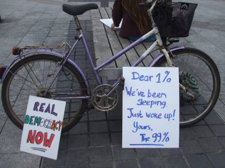 #OccupyGalway: Dear 1% Weve been sleeping- Just woke up- Yours- the 99%