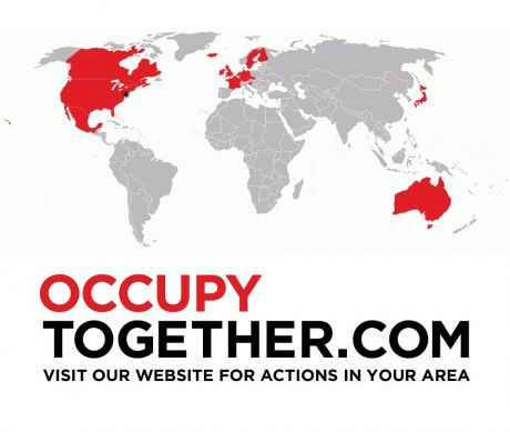 Occupy Together - the spread of the #AMERICANREVOLUTION