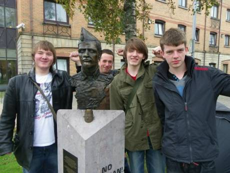 #OccupyBelfast: Tahrir > Spain > US > Dublin > Belfast (the lads remember those that fought fascism in Spain