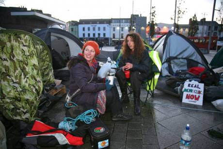 #OccupyGalway: tough and determined