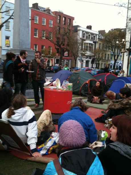 Occupy Cork, the Rebels are still going strong, rain or no rain