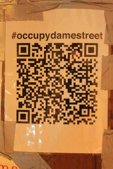 #OccupyDameStreet - with its funny fancy fone yokey